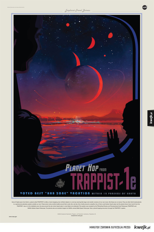 """NASA wydała ulotki """"promujące"""" nowo odkryty układ Trappist-1"""