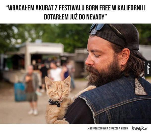 Wzruszająca historia kotka ocalonego przez motocyklistów