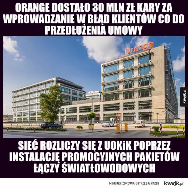 Orange dostał najwiekszą karę od UOKiK w 2017