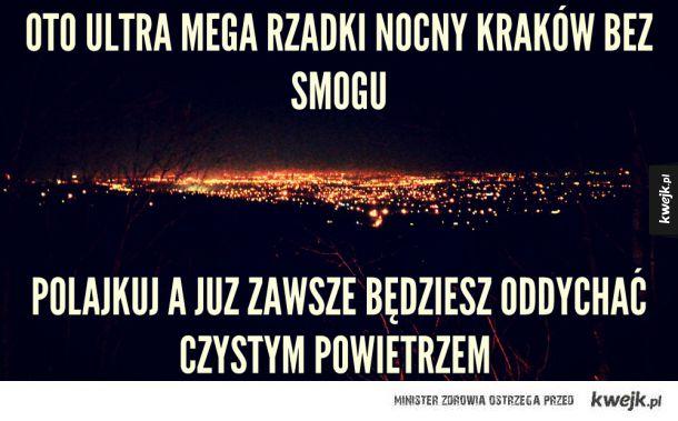 Rzadki widok Krakowa