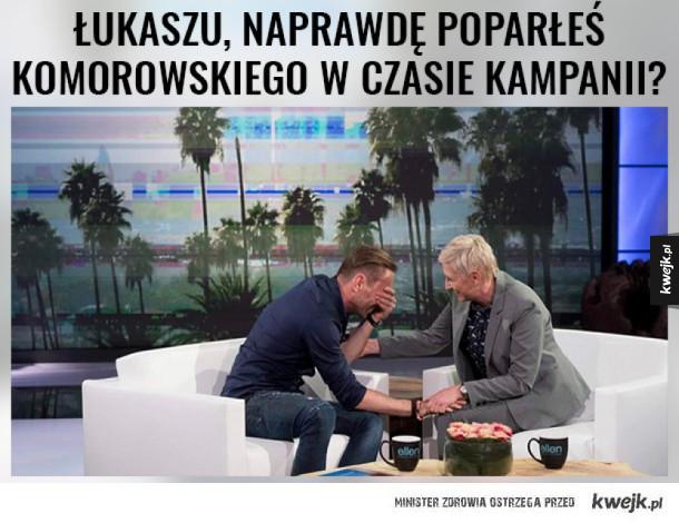Łukasz Jakóbiak wystąpi w talk show u Ellen! XD