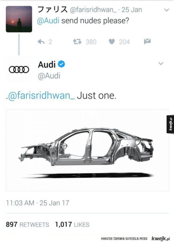 odpowiedź Audi