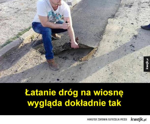 łatanie dziur