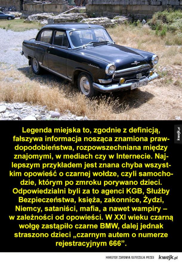 Czarna wołga i zabójcze gry, czyli legendy miejskie