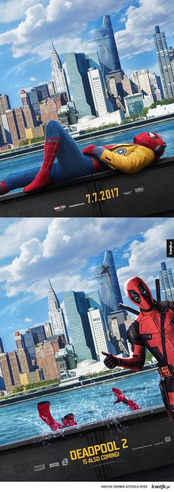 Piękny plakat Deadpoola