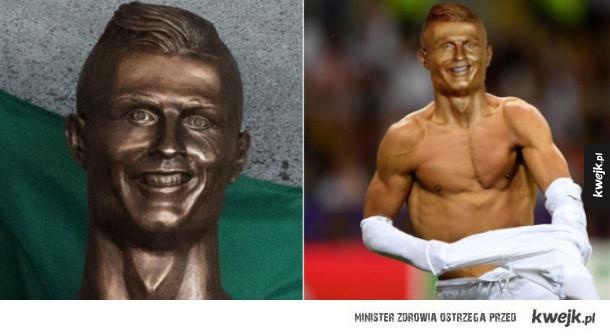 Reakcje internautów na posąg Ronaldo