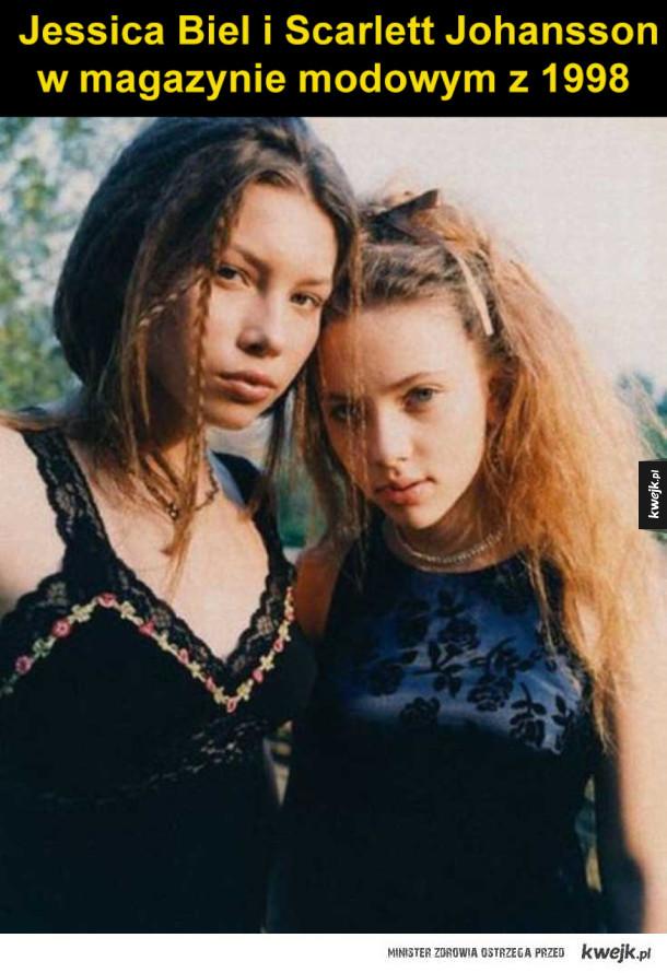 Trochę się zmieniły - Jessica Biel i Scarlett Johansson w magazynie modowym z 1998