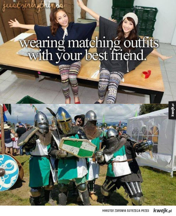 Deus vult! - wearing matching outfits with your best friend justgirlythings