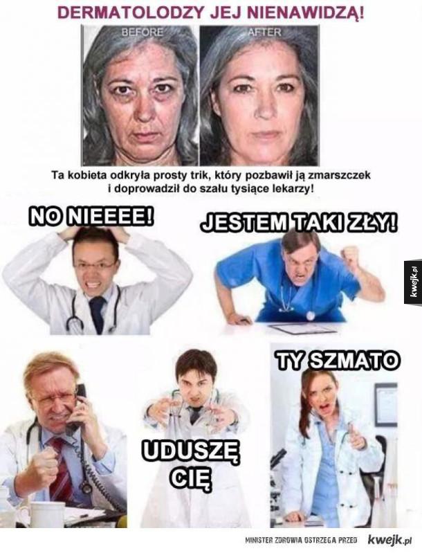 dermatolog wściekły niebezpieczny