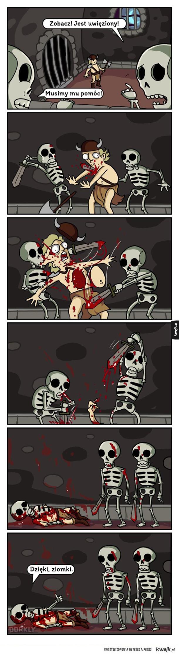 Dobre ziomki szkielety