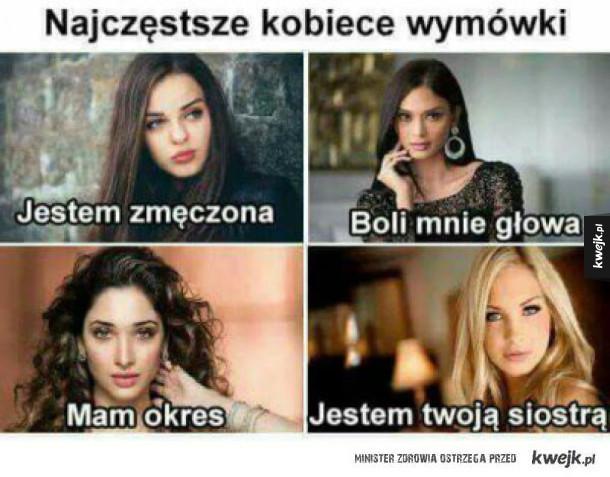 Kobiece wymówki