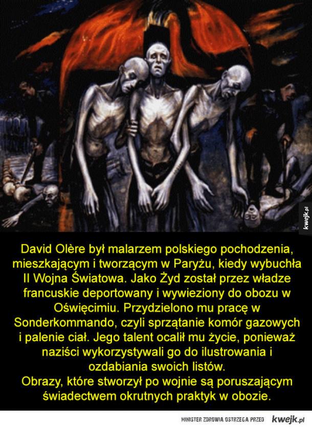 Przerażające obrazy polskiego malarza z obozu w Oświęcimiu