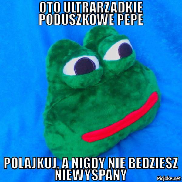 Poduszkowe Pepe z allegro xD