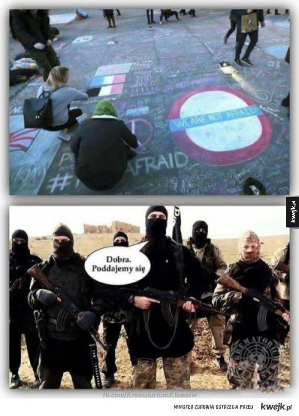 terroryści pokonani