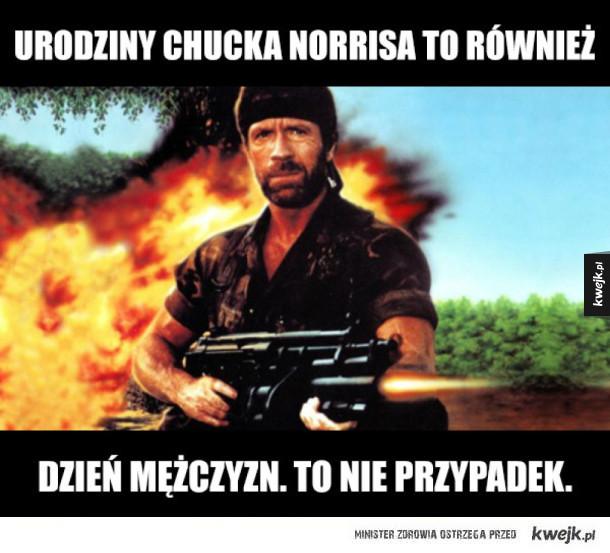 Żarty z Chucka Norrisa z okazji urodzin Chucka Norrisa