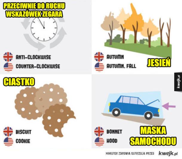 Angielski brytyjski vs angielski amerykański