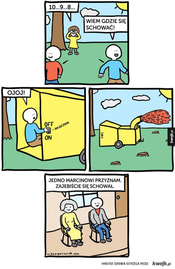 Porypane komiksy - autor Mike Organisciak
