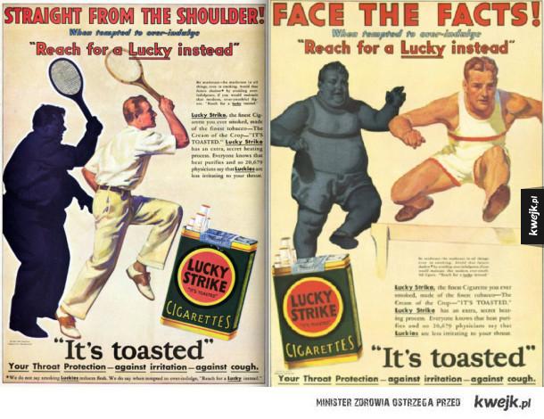 """Dawne reklamy """"zdrowych"""" papierosów"""