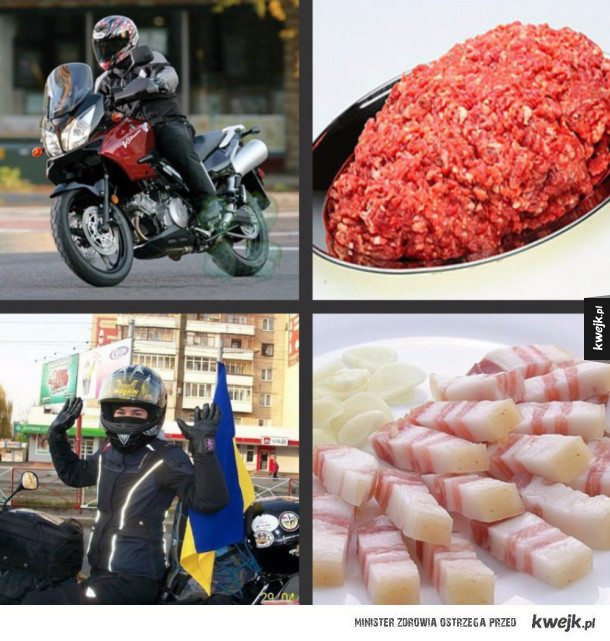 Motocyklista kontra ukrainiec