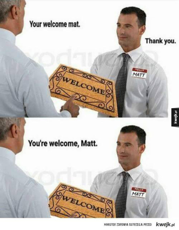 welcome matt