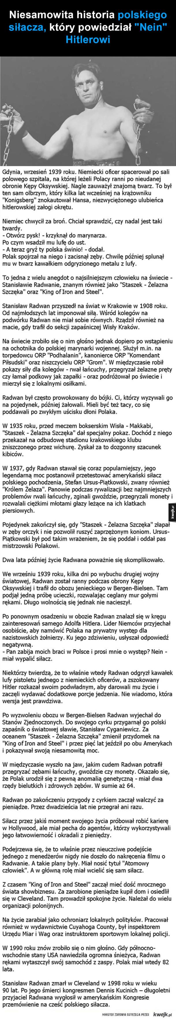 Niesamowita historia polskiego siłacza