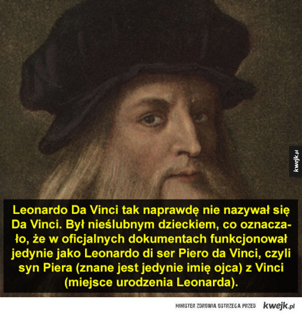 Kilka ciekawostek o Leonardzie Da Vinci