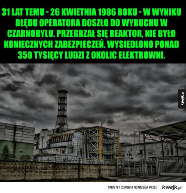 31. rocznica wybuchu w Czarnobylu
