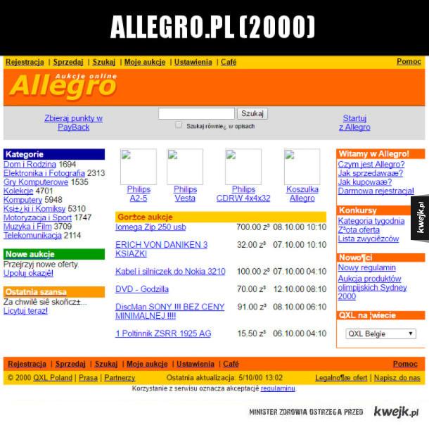 Jak kilkanaście lat temu wyglądał Internet
