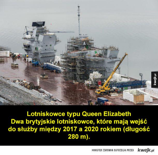 Największe wojskowe okręty w historii