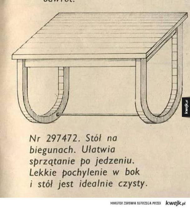 Stół na biegunach