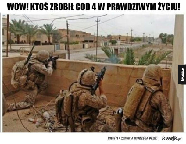 Wow! Prawdziwe Call of duty!