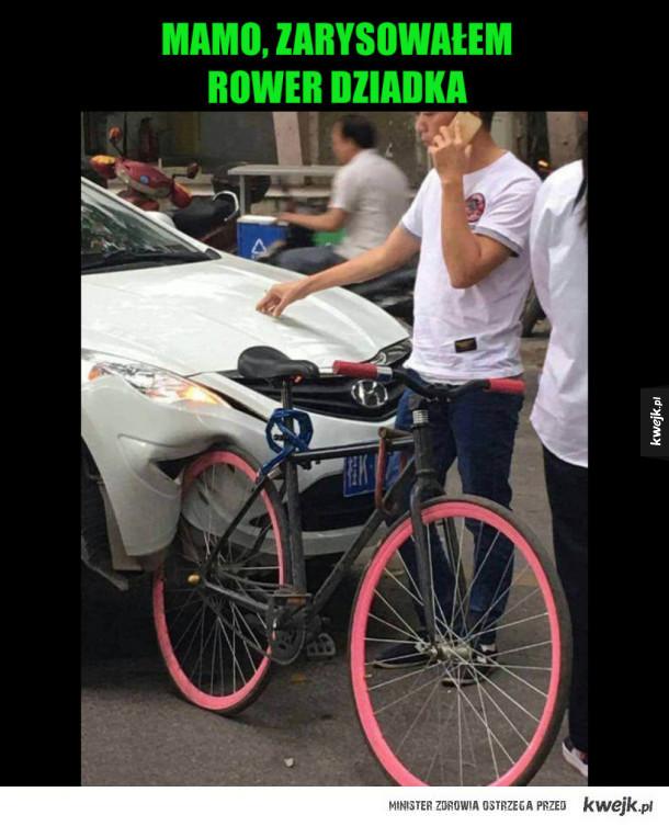 samochód vs rower