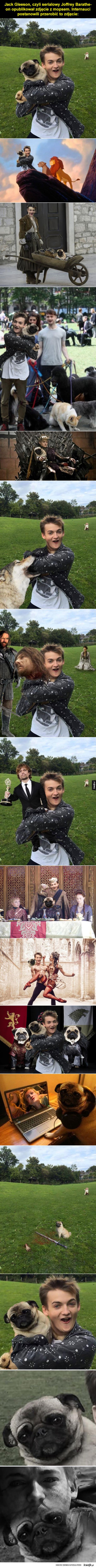 Joffrey i mops kontra Photoshop