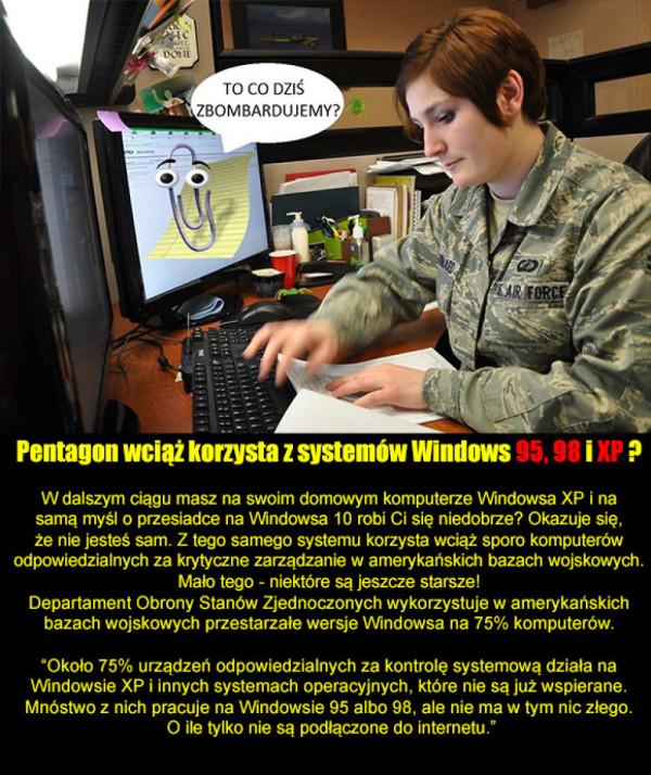 Amerykańska Armia dalej używa windowsa XP!