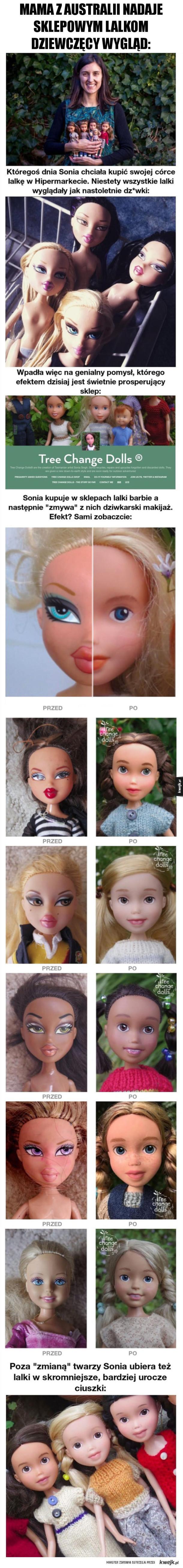 Lalki bez makijażu