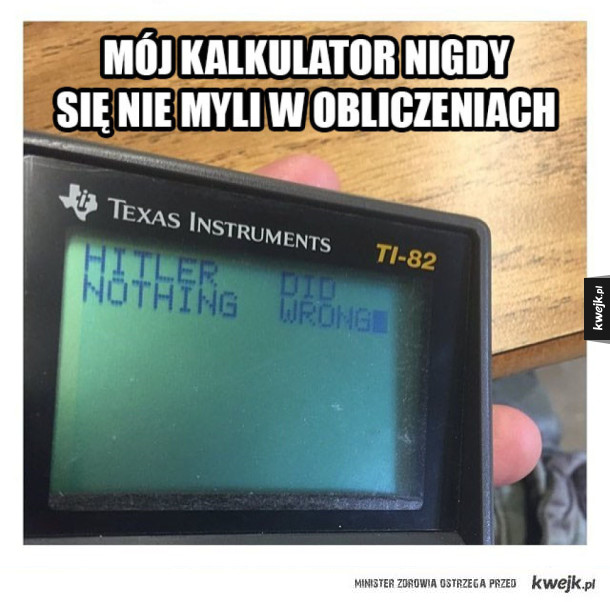 Nieomylny kalkulator