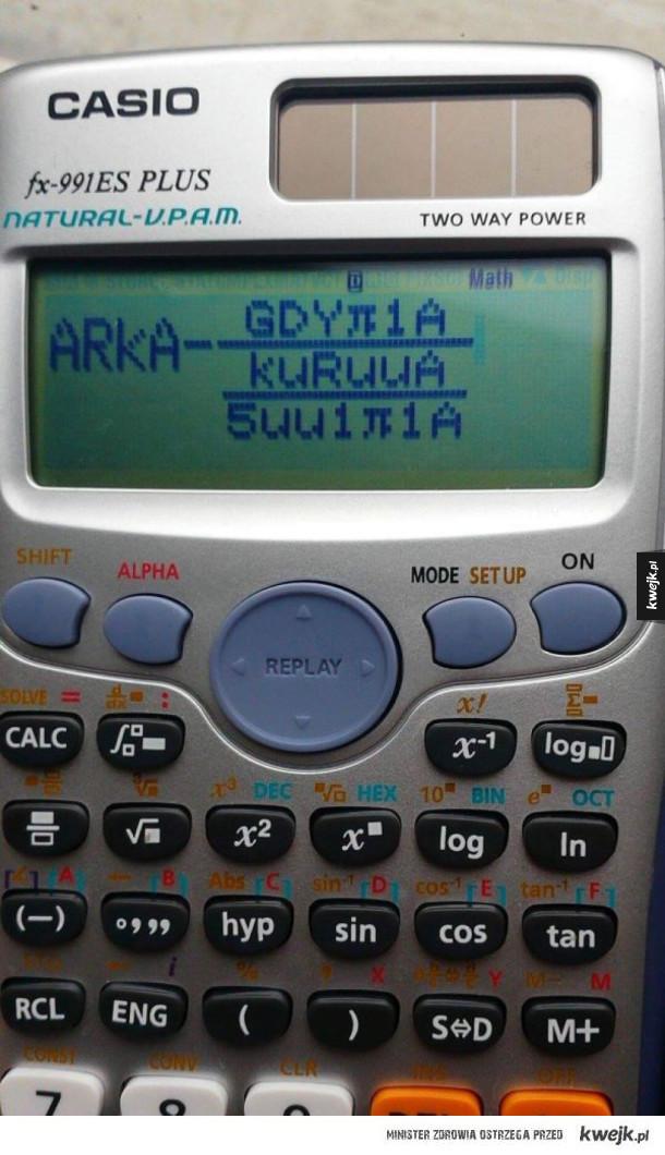 wierszyk na kalkulatorze