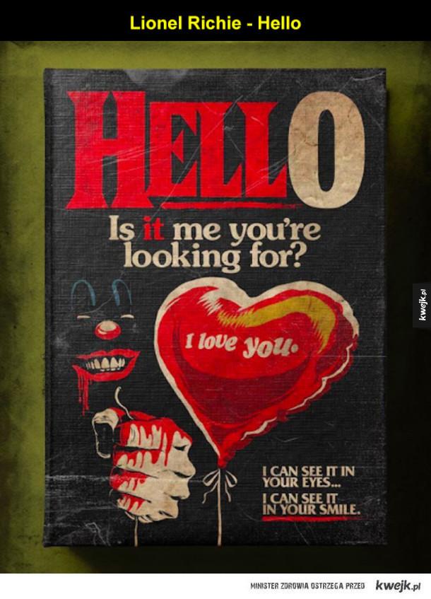 Klasyczne piosenki o miłości zamienione w horrory