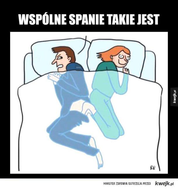 wspólne spanie