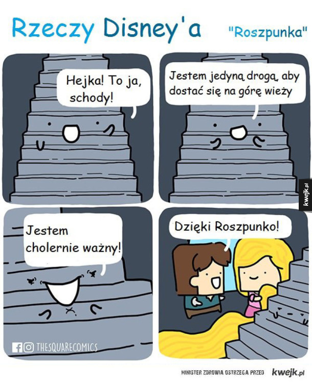 Roszpunka i schody
