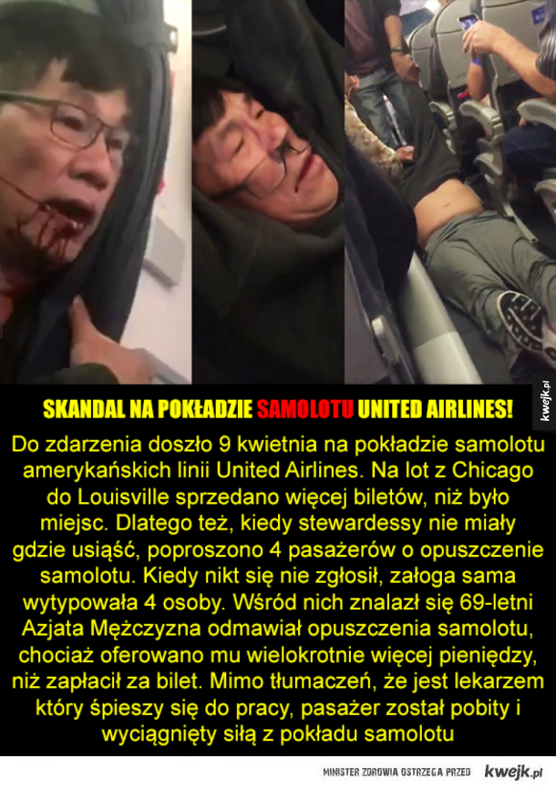 Skandal w United Airlines