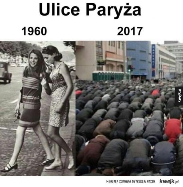 paryż kiedyś i dziś
