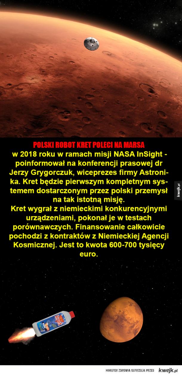 Polska technologia na Marsie!