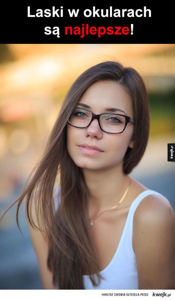 laski w okularach