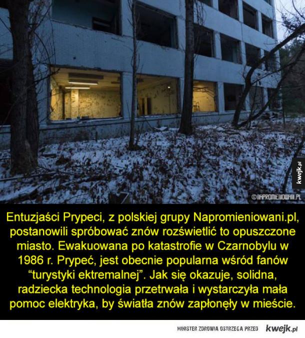 Polacy rozświetlili Czarnobyl