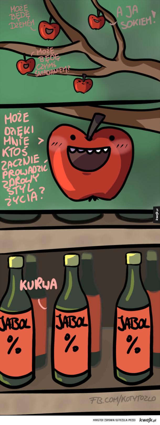Komiks o jabłkach