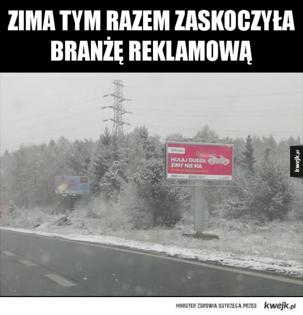 Zima znowu zaskoczyła
