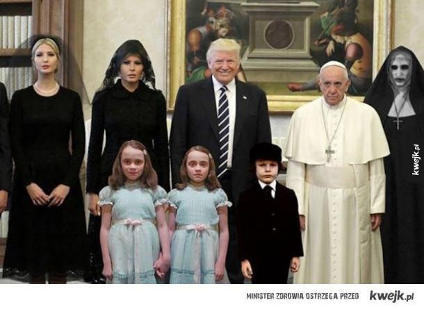 trump u papieża