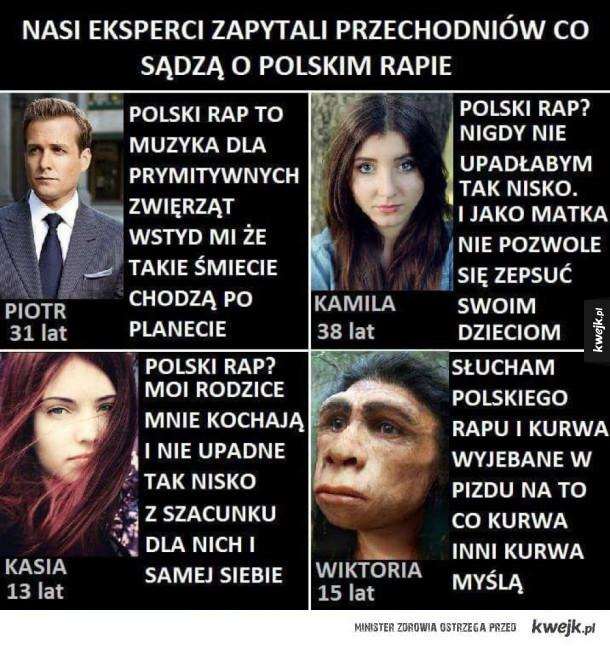 Zdanie na temat Polskiego rapu