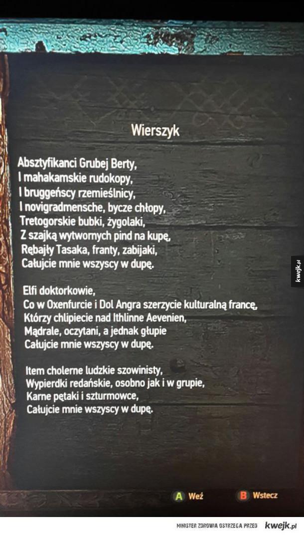 Wierszyk z Wiedźmina
